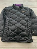 *Girls Women's NORTH FACE 550 Down Fill Full Zip Black Puffer Coat Size Unknown