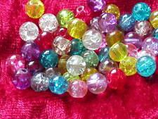 100 Crackle Glasperlen Mix 6 -7 mm 100 Stück Perlen Schmuck Basteln