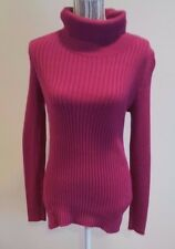 Sonoma Long Sleeve Cranberry Knit Turtleneck Sweater Blouse Shirt Top Size Small
