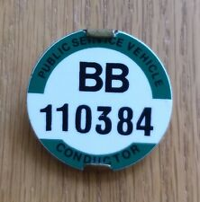 PSV Bus Conductor Badge BB 110384 Yorkshire