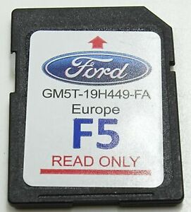 GENUINE FORD MYFORD TOUCH SAT NAV NAVIGATION SD CARD EUROPE F5 2016 GM5T19H449FA