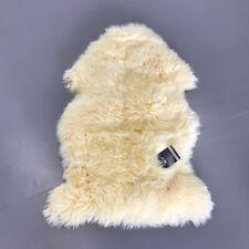 Real New Zealand Single Sheepskin Rug 2'x3' Beige