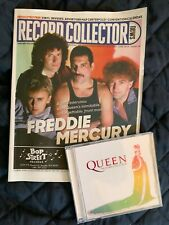 Queen Freddie Mercury Record Collector magazine + remix hits Cd we will rock you