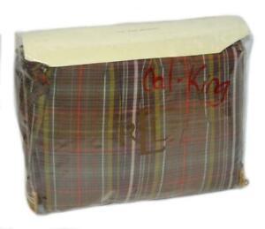 """RALPH LAUREN Rock River Plaid CAL KING BEDSKIRT NEW 1ST QUALITY 15"""" DROP $175"""
