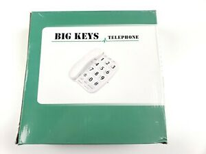 New Big Keys Large Buttons Volume Control Speed Dial Memory Telephone White