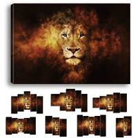 LION FEU FLAMME - IMPRESSION IMAGE TOILE 60 MODELES IMPRIMEE TABLEAU LIO-01