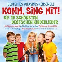 DEUTSCHES VOLKSMUSIKENSEMBLE-KOMM,SING MIT-DIE 25 SCHÖNSTEN KINDERLIEDER CD NEU