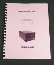 Tokyo Hy-Power HC-1.5KAT Instruction Manual - Card Stock Covers & 28lb Paper!