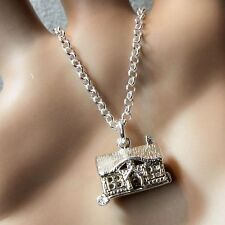 new sterling silver opening highland cottage pendant & chain