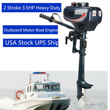 Vintage Outboard Motor 2Stroke 3.5HP Fishig Boat Engine Water Cooling System CDI