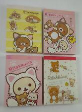 San-x Rilakkuma Lazy Cat Mini Memo Pad Lot (4) Stationery Kawaii