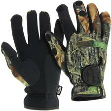 Neoprene Fishing Camo Gloves Folding Fingers Shooting Hunting NGT All Sizes Large