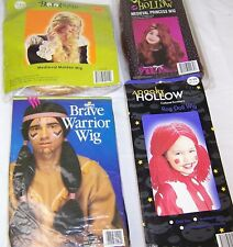 Kids & Adult Halloween Wigs,Rag Doll,Medieval Maiden,Princess,Indian,Costume
