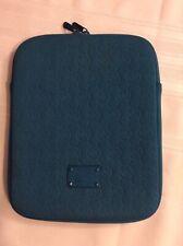 """MICHAEL KORS Teal Neoprene 10"""" IPAD Tablet Sleeve Case"""