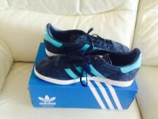 new concept ea6de 44ab0 Mens Adidas Gazelle Navy And Turquoise Suede Trainers With Box Size 10 (UK)