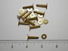#12 SOLID BRASS FLAT HEAD RIVETS AND BURRS PACKAGE OF 10