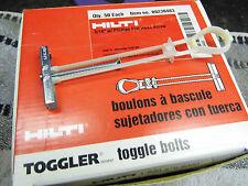 """HILTI TOGGLER 00230483 QTY 50 TOGGLER BOLT 3/16"""" W/ PFH SCREW 50/BX"""