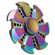 Chrome Rainbow ADHD Hand Spinner EDC Ceramic Fidget Toy Adults Kids Cool Torqbar