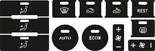 Set of stickers to repair the buttons on the AC/ Clima unit  VW Touareg