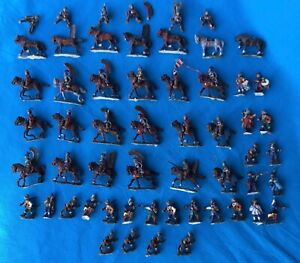 Awesome Collection of 25mm lead Soldiers & Mounted Soldiers Painted detail x50