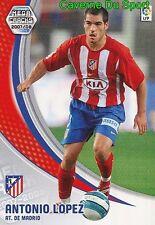 045 ANTONIO LOPEZ ESPANA ATLETICO TARJETA CARD MEGA CRACKS LIGA 2008 PANINI