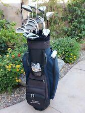 Ladies Complete Golf Set Lopez Irons Callaway Woods Putter Cart Bag RH 14 Clubs