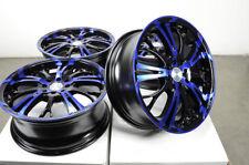 "17"" Wheels Fit Honda Civic Hyundai Sonata Elantra Spectra Corolla Blue Rim 4 Lug"
