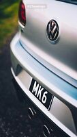 Volkswagen Golf MK6 Rear Badge Inlays (Inners) Golf 6 GTI R TDI TSI