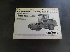 HAMM 2320 D 2320 DO Roller Compactor Spare Parts Manual  Catalog