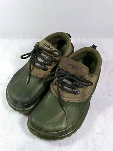 CROCS Axle Islander Camouflage Camo Duck Muck Boat Shoes Mens 8 Womens 10