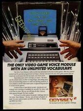 1982 Odyssey 2 Odyssey2 video game computer photo vintage print ad