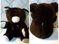 PELUCHE ORSO BRUNO CON ZIP CONSERVA COSE teddy bear plush doll pupazzo vintage