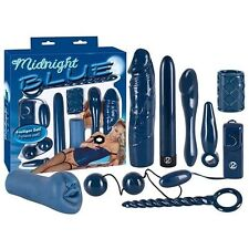 KIT MIDNIGHT BLUE SET REGALO SCATOLA GIOCHI EROTICI ANALI E VAGINALI SEXY TOY