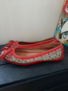 Coach Leather Monogram Loafer Style Flats Size 7 Genuine