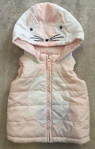 TARGET Cute Bunny Puffer Vest Hoodie W/ Ears 000 EUC+. 10 Items = $5 Post