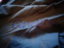 Pottery Barn Teen washed twill beanbag large navy blue mono Caroline slipcover