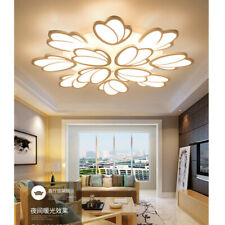 Ceiling Modern LED Tulip Shade Chandeliers Acrylic Home Lights Fixtures