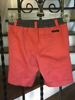 Cute! Little Boy's Size 4T Nautica Shorts Red Zip-Fly