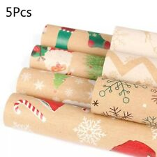 5 PC CHRISTMAS GIFT WRAP ROLLS WRAPPING PAPER ROLL PRESENT