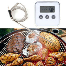 Digital Electro Thermometer Timer Meat Food Oven Meter Gauge with Remote Probe