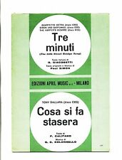 TRE MINUTI-COSA SI FA STASERA#Spartito April Music# Quartetto Cetra-Tony Dallara