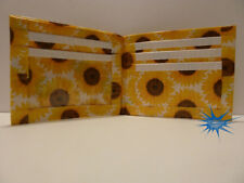 Duct Tape Wallet with Sunflowers pictures all over it Handmade