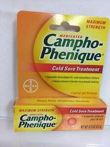 Campho Phenque Gel Cold Sore Treatment Size .23oz