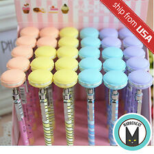 Lot 4pcs Kawaii French Macaron Sweet Dessert 0.5mm Mechanical Pencil Pen Cute US