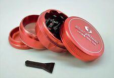 """Sharpstone V2 Herb & Tobacco Grinder 2.1"""" Hard Top - Red"""