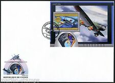 GUINEA 2012 JAPANESE  PLANES OF THE WORLD  SOUVENIR  SHEET  FIRST DAY COVER