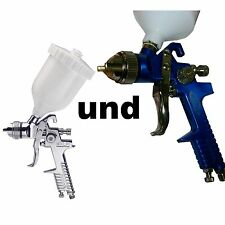 Lackierpistolen HVLP  Set Spritzpistole 1,4 und 0,8 für Autolack & Airbrush