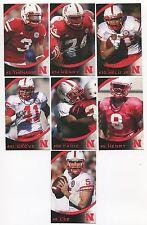 2010 Nebraska Schedule 23 card lot Roy Helu/Zac Lee/Niles Paul/Alex Henery+