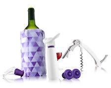 New! Vacu Vin 6889860 Wine Essentials Gift Set, White/Purple