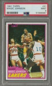 1981-82 Topps Magic Johnson #21 Los Angels Lakers PSA 9 Mint